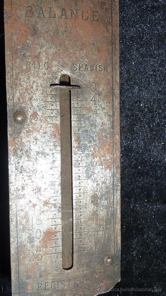 Antigüedades: Antigua balanza romana de hierro, pocket balance. - Foto 3 - 30613977