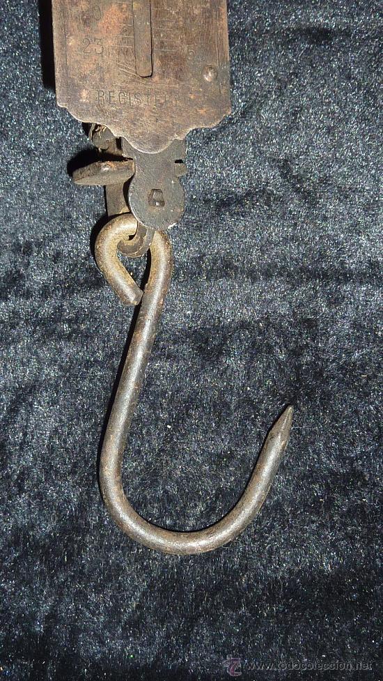 Antigüedades: Antigua balanza romana de hierro, pocket balance. - Foto 4 - 30613977