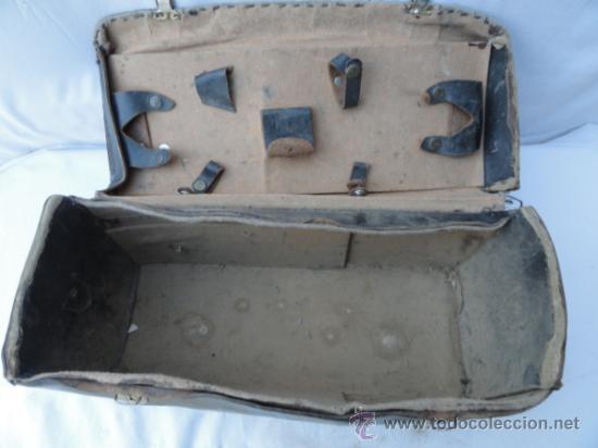 Antigüedades: ANTIGUO MALETÍN DE PIEL PARA HERRAMIENTAS. - Foto 3 - 30736136
