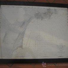 Antiguidades: 1883. PLANO DE LA RADA DE TORREVIEJA. RAFAEL PARDO FIGUEROA. ENMARCADO. ALICANTE . Lote 30763548