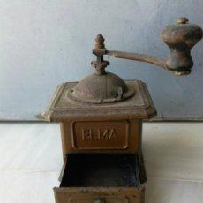 Antigüedades: ANTIGUO MOLINILLO DE CAFÉ MARCA ELMA. Lote 31365975