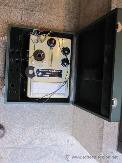 COLORIMETRO DEL DR LANGE, ALEMAN, MODELO IV - 4V - APROX 1950/60 VER INFO ADICIONAL - ANALITICA (Antigüedades - Técnicas - Instrumentos Ópticos - Microscopios Antiguos)