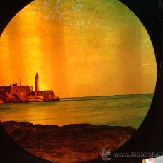 Antigüedades: BASTIDOR CRISTALES LINTERNA MÁGICA.. Lote 30913343