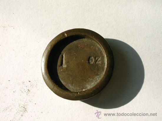 PONDERAL ONZA INGLESA (Antigüedades - Técnicas - Medidas de Peso - Ponderales Antiguos)