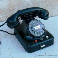 Teléfonos: TELEFONO CENTRALIA DE SOBREMESA HIERRO Y BAQUELITA, FUNCIONANDO , TIMBRE DE DOBLE CAMPANA ,,,TEL365. Lote 31004694