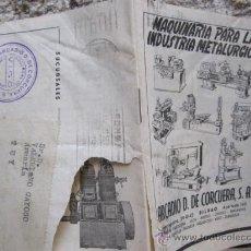 Antigüedades: CATALOGO MAQUINARIA INDUSTRIA METALURGICA- ARCADIO CURCUERA APROX 1930 16PP 15CM. Lote 31081411