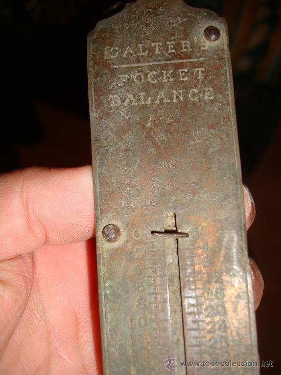 Antigüedades: ANTIGUO PESO DE COLGAR, SALTER´S POCKET BALANCE - Foto 2 - 31100005