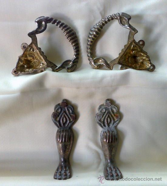 Antigüedades: HERRAJES ANTIGUOS PARA MUEBLE. - Foto 3 - 31230269