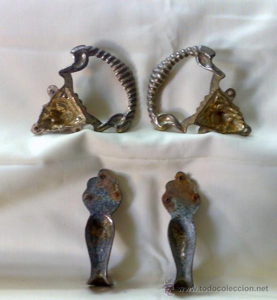 Antigüedades: HERRAJES ANTIGUOS PARA MUEBLE. - Foto 9 - 31230269