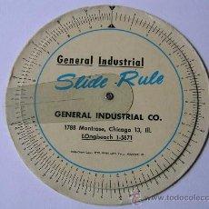 Antigüedades: REGLA DE CALCULO CIRCULAR GENERAL INDUSTRIAL UNA CALCULADORA AÑOS 50 SLIDE RULE RECHENSCHIEBER. Lote 31265289