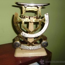 Antigüedades: ANTIGUO PESA CARTAS,DOBLE ESCALA.MARCADA MYC. Lote 31318322