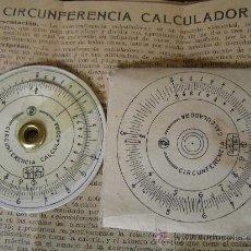 Antigüedades: REGLA DE CALCULO CIRCULAR CIRCUNFERENCIA CALCULADORA SLIDE RULE RECHENSCHIEBER. Lote 31405213