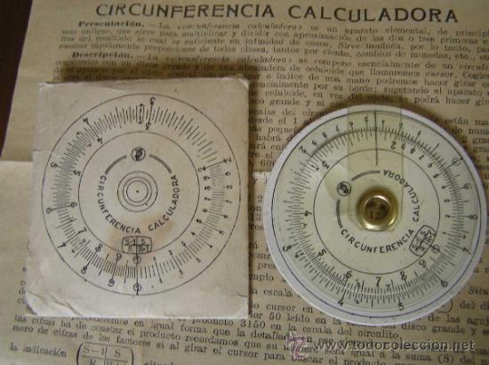 Antigüedades: REGLA DE CALCULO CIRCULAR CIRCUNFERENCIA CALCULADORA SLIDE RULE RECHENSCHIEBER - Foto 2 - 31405213