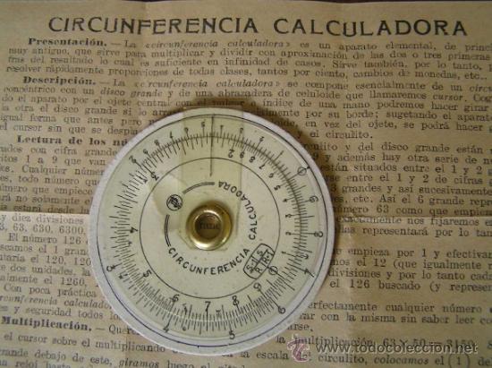 Antigüedades: REGLA DE CALCULO CIRCULAR CIRCUNFERENCIA CALCULADORA SLIDE RULE RECHENSCHIEBER - Foto 3 - 31405213