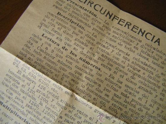 Antigüedades: REGLA DE CALCULO CIRCULAR CIRCUNFERENCIA CALCULADORA SLIDE RULE RECHENSCHIEBER - Foto 17 - 31405213