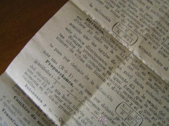 Antigüedades: REGLA DE CALCULO CIRCULAR CIRCUNFERENCIA CALCULADORA SLIDE RULE RECHENSCHIEBER - Foto 18 - 31405213