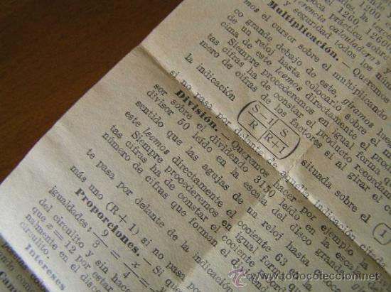 Antigüedades: REGLA DE CALCULO CIRCULAR CIRCUNFERENCIA CALCULADORA SLIDE RULE RECHENSCHIEBER - Foto 19 - 31405213
