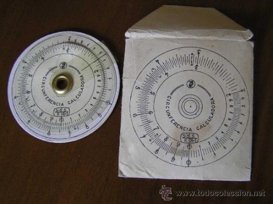 Antigüedades: REGLA DE CALCULO CIRCULAR CIRCUNFERENCIA CALCULADORA SLIDE RULE RECHENSCHIEBER - Foto 9 - 31405213