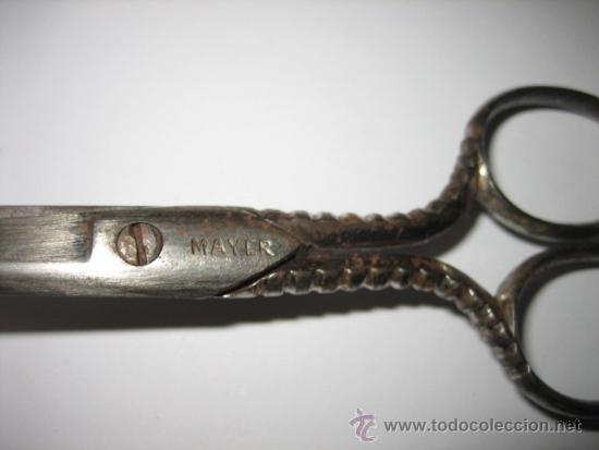 Antigüedades: ANTIGUAS TIJERAS MARCA MAYER - Foto 5 - 31556679
