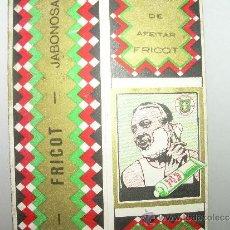 Antigüedades: ANTIGUO ESTUCHE DE CARTON PARA JABON DE AFEITAR....FRICOT. Lote 31583684