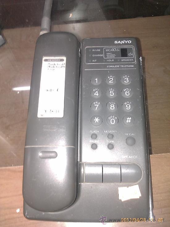 TELEFONO INALAMBRICO SANYO (Antigüedades - Técnicas - Teléfonos Antiguos)