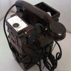 Teléfonos: TELEFONO FERROVIARIO/DE FERROCARRILES ALEMANES DE BAQUELITA, AÑOS 50 APROX, FERNSTRECKSPRECHER SF882. Lote 31710948