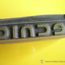 Antigüedades: ANTIGUO SELLO TAMPÓN-TECNIC-PERFECTO.. Lote 32136548
