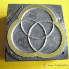 Antigüedades: ANTIGUO-SELLO-METÁLICO-50X50 MM-EXCELENTE ESTADO-VER FOTOS.. Lote 32410158