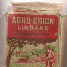 Antigüedades: AGRO-ORION LINDANE. SUSPENSIÓN. INSECTICIDA AGRÍCOLA. Lote 31858858