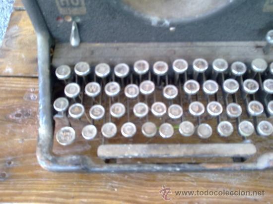 Antigüedades: antigua maquina de escribir hispano olivetti, m40. - Foto 3 - 31956797