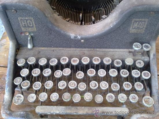 Antigüedades: antigua maquina de escribir hispano olivetti, m40. - Foto 4 - 31956797