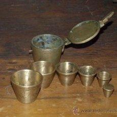 Antigüedades: PONDERALES BRONCE. COMPLETO. ESPAÑOL – BIRMINGHAM. S XVIII.. Lote 31971788