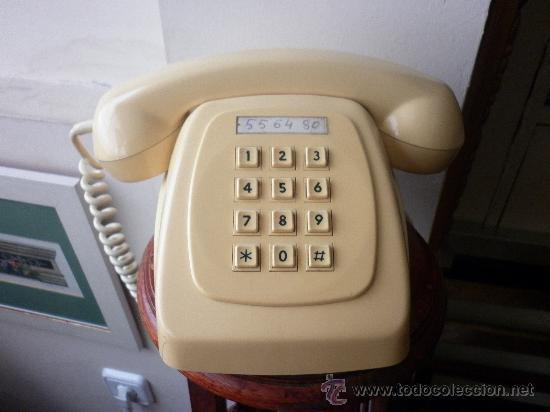 TELÉFONO HERÁLDO DE SOBREMESA DE CITESA MÁLAGA DE TECLAS (Antigüedades - Técnicas - Teléfonos Antiguos)