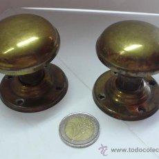 Antigüedades: 2 ANTIGUOS POMOS EN METAL. Lote 32177914