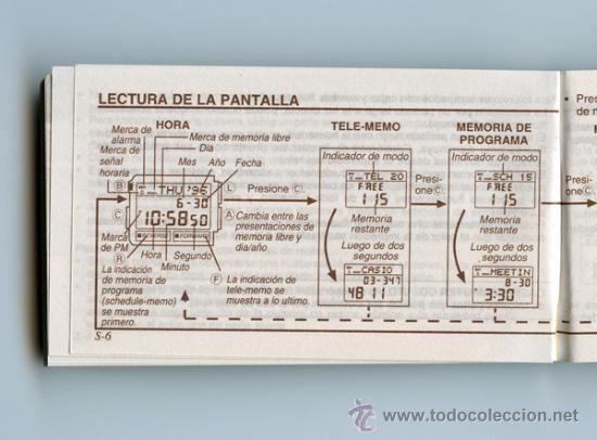 162cd4d817de Antigüedades  GUÍA PROPIETARIO - MANUAL INSTRUCCIONES - RELOJ CASIO -  MÓDULO 1479 - DATA BANK