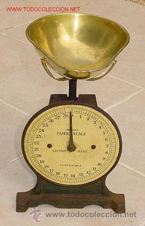 ANTIGUA BASCULA INGLESA (Antigüedades - Técnicas - Medidas de Peso - Básculas Antiguas)