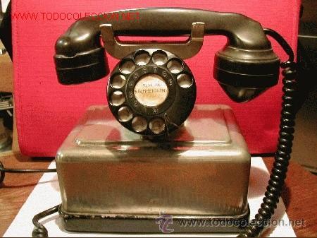 TELEFONO ANTIGUO NORUEGO-METALICO CROMADO-AÑO 1943 (Antigüedades - Técnicas - Teléfonos Antiguos)