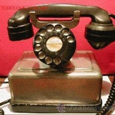 Teléfonos: TELEFONO ANTIGUO NORUEGO-METALICO CROMADO-AÑO 1943. Lote 32201789
