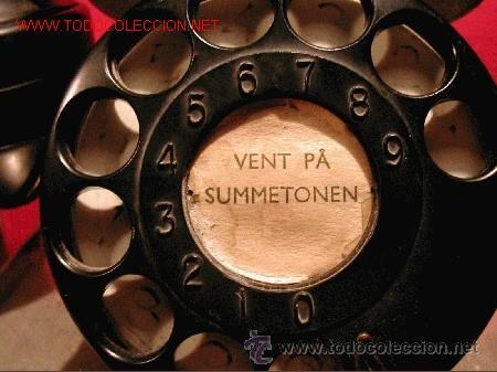 Teléfonos: TELEFONO ANTIGUO NORUEGO-METALICO CROMADO-AÑO 1943 - Foto 2 - 32201789