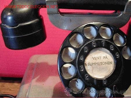 Teléfonos: TELEFONO ANTIGUO NORUEGO-METALICO CROMADO-AÑO 1943 - Foto 4 - 32201789