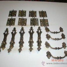 Antigüedades: TIRADORES Y BISAGRAS GRAN LOTE. Lote 32213540