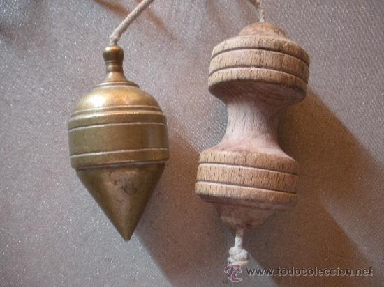 PLOMADA ANTIGUA DE BRONCE (Antigüedades - Técnicas - Herramientas Profesionales - Albañileria)