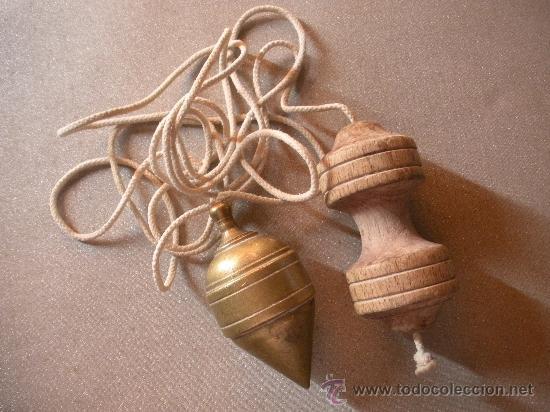 Antigüedades: plomada antigua de bronce - Foto 2 - 32225203