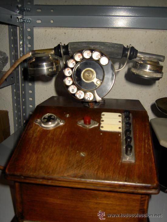 .ANTIGUO TELÉFONO MADERA P. JAQUESSON PARIS (Antigüedades - Técnicas - Teléfonos Antiguos)