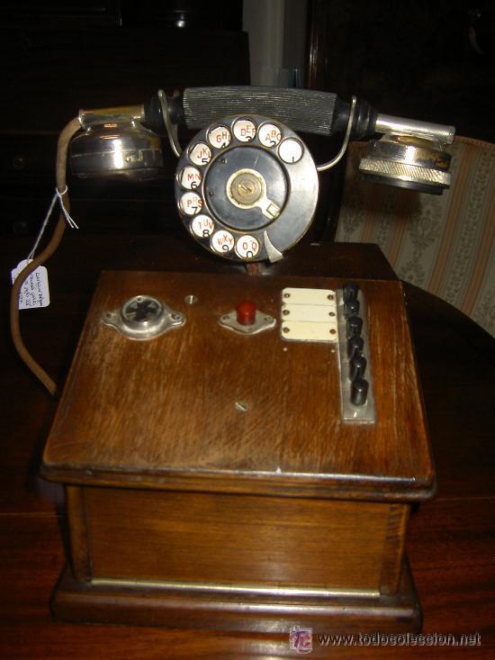 Teléfonos: .Antiguo teléfono madera P. Jaquesson Paris - Foto 2 - 32278577