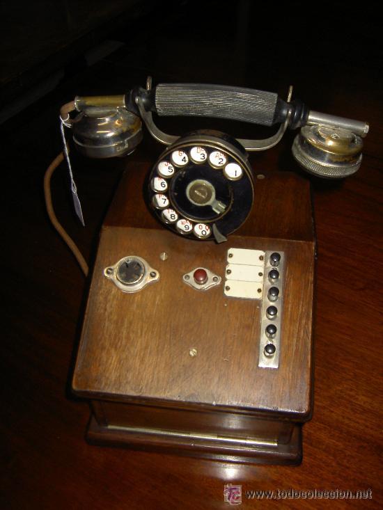 Teléfonos: .Antiguo teléfono madera P. Jaquesson Paris - Foto 3 - 32278577