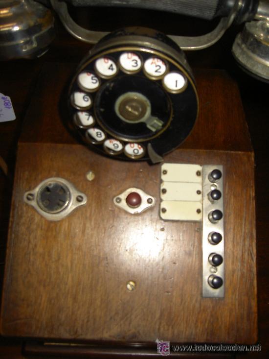 Teléfonos: .Antiguo teléfono madera P. Jaquesson Paris - Foto 5 - 32278577
