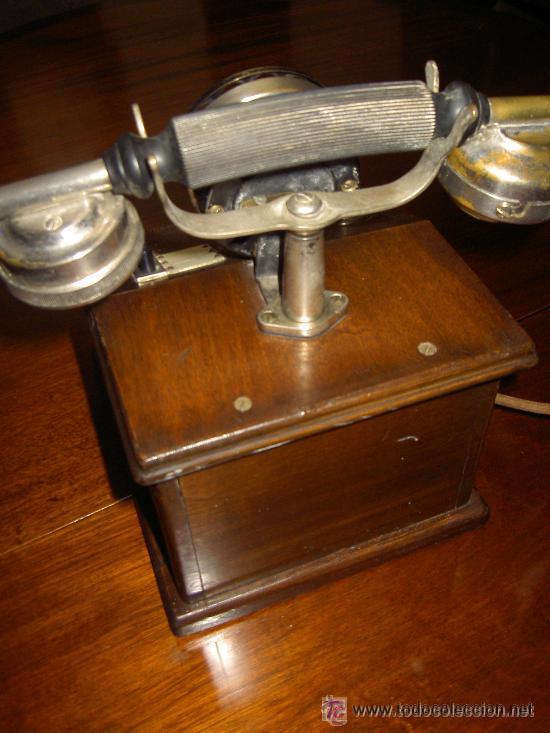Teléfonos: .Antiguo teléfono madera P. Jaquesson Paris - Foto 6 - 32278577