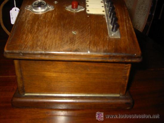 Teléfonos: .Antiguo teléfono madera P. Jaquesson Paris - Foto 7 - 32278577