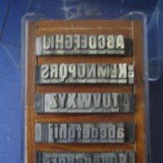 Antigüedades: LETRAS DE IMPRENTA DE PLOMO - ABECEDARIO MAYUSCULA Y MINUSCULA 24 FOLIO ESTRECHA NEGRA - 53 PIEZAS. Lote 32473452